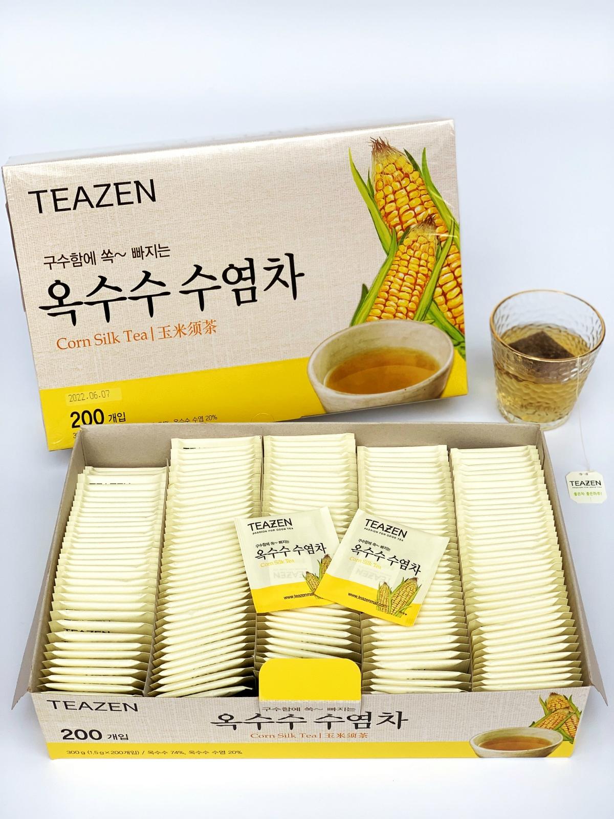 TEAZEN韩国茶玉米须茶 花草茶孕妇可饮 消水肿袋泡茶 200茶包袋装